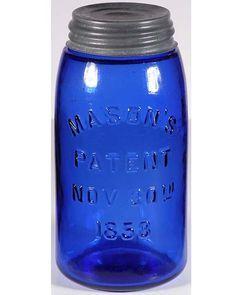 cobalt blue | Cobalt blue MASON'S PATENT 1858 quart – North American Glass