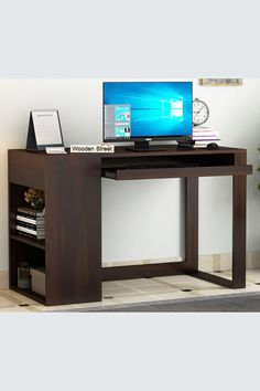 This is one modular pattern of the study table with an edgy design. One storage equipped design with a keyboard tray below the table-top, and a deep closed cabinet covered at the top. There are two open shelves by the side of the table, that enhances the storage capacity of the table. Durable solid Mango wood gives life to thisstudy tablewith its robust grain strength, and the spectacular grain pattern accents charm over the surface table. #studytable #furniture #moderndesign…