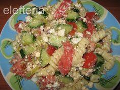 Γεύση Ελευθερίας: χωριάτικη με... βίδες Pasta Salad, Salads, Homemade, Ethnic Recipes, Food, Crab Pasta Salad, Eten, Salad, Hand Made