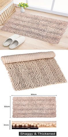 Wimaha Camel Bath Rugs for Bathroom. Give your feet a chance to feel ultra softest touching feeling with Wimaha Bath Rugs for Bathroom Large Non-slip Absorbent Microfiber Shaggy Chenille Bathroom Shower Mats and Rugs , 32 x 16 Inches Camel Carpets! Shower Mats, Bathtub Shower, Bath Mats, Kitchen Mat, Shaggy, Carpets, Camel, Rugs, Bathroom