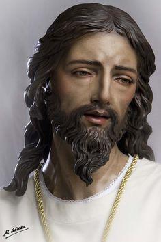 Jesus Christ Statue, Jesus Christ Images, Angel Sculpture, Sculpture Art, Sculptures, Jesus Mother, St Raphael, Jesus Face, Biblical Art