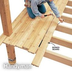 how to keep floor joists straight while installing gurts