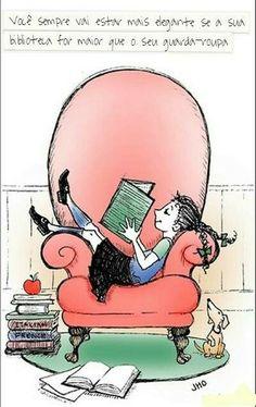 Você sempre vai estar mais elegante se sua biblioteca for maior do que o seu guarda roupas! #elegante #biblioteca #livros