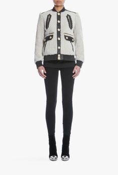 Balmain designer Jackets & Coats for women Designer Bomber Jacket, Balmain Designer, Balmain Collection, Coats For Women, Clothes For Women, Online Boutiques, Jackets, Shopping, Purchase History