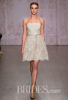 Brides: Monique Lhuillier Wedding Dresses - Fall 2015 - Bridal Runway Shows - Brides.com