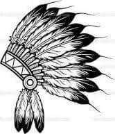 Illustration of native american indian chief headdress indian chief mascot, indian tribal headdress, indian headdress vector art, clipart and stock vectors. Native American Headdress, Native American Symbols, American Indians, Native Indian, Indian Art, Tattoo Indio, Chiefs Mascot, Oldschool, Feather Headdress