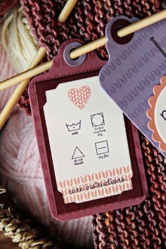 Handle With Care Mini Stamp Set: Papertreyink-great for making tags for gifts