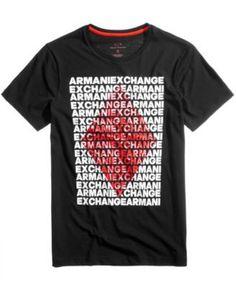 Armani Exchange Men's Logo-Print T-Shirt - Black XXL