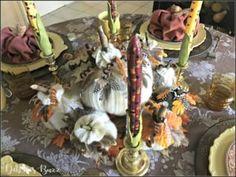 DIY Eerie, Elegant Black Pumpkin Decor - Debbee's Buzz Christmas Yard Art, Christmas Brunch, A Christmas Story, Christmas Elf, Christmas Wreaths, Pumpkin Centerpieces, Thanksgiving Centerpieces, Thanksgiving Table Settings, Diy Thanksgiving