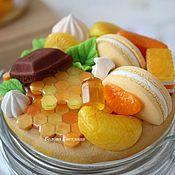 Посуда ручной работы. Ярмарка Мастеров - ручная работа Баночка с медовыми сотами, лимоном и сладостями. Handmade.
