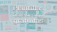 Una recopilación de plantillas de diseño plano para descargar gratis y utilizar en tu proyecto de diseño web.