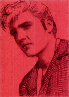Artist: Karen Matias | Title: Elvis | Media: Charcoal on paper | Dimensions: 210 x 297 mm | Year: 2009