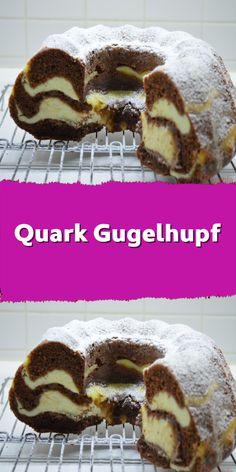 Quark gugelhupf – New Cake Ideas Easy Cake Recipes, Healthy Dessert Recipes, Smoothie Recipes, Cookie Recipes, Snack Recipes, Smoothies, Snacks, Cookies Et Biscuits, Cake Cookies