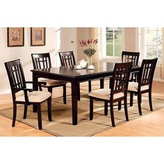 7-Piece Rectangular Table Dinette Set, Dark Cherry -- Awesome products selected by Anna Churchill