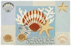 Found it at Wayfair - Key West Clam Shell Rug Beach Style Rugs, Coastal Style, Coastal Decor, Beach Rug, Coastal Living, Palm Beach, Nautical Rugs, Coastal Area Rugs, Small Mats