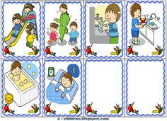 Los Niños: ΚΑΘΗΜΕΡΙΝΕΣ ΡΟΥΤΙΝΕΣ Indoor Activities For Toddlers, Back To School Activities, Beginning Of The School Year, First Day Of School, Organisation Administrative, Sequencing Pictures, Clever Kids, Learning Cards, Grande Section