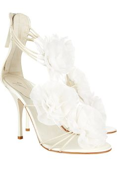 #Guiseppe Zanotti White Flower Sandals