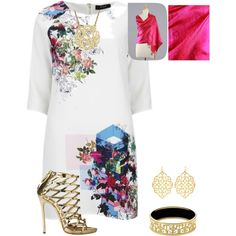 Untitled #19 by george-isaacs on Polyvore featuring polyvore, fashion, style, VILA, Dsquared2, Susan Shaw and NOVICA