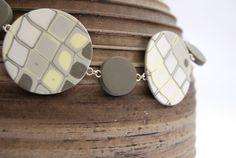 Natural Tones Disk Necklace by ClareBashamDesigns on Etsy, £34.95