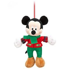 A Mickey Mouse who is both a plush soft toy AND an ornament? Why, it's the best of both worlds! MICKEY MOUSE PLUSH SOFT TOY DISNEY ORNAMENT
