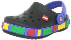 Crocs Crocband Lego Clog are the perfect shoes for both boys, girls, and older toddlers.  They have a base color of black but have many bright colors aligning it to make them stand out. These adorable Crocs are LEGO brand and are surrounded by LEGO shapes. Black/Sea Blue,1 M US Little Kid   $38.46 #LEGO #toddler #girls #boys #black #blue #green #red #yellow #Crocs #rubber #fun