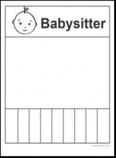 Free Babysitting flyer templates and ideas: make your own! | Babby ...