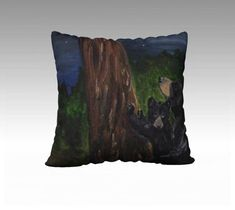 Items similar to Starry Starry Night - Momma Bear and Cub x Decorative Pillow on Velveteen or Canvas from Original Painting on Etsy Canvas Fabric, Canvas Prints, Fox Pillow, Color Pick, Momma Bear, Bear Cubs, Animal Pillows, Hand Sewing, Decorative Pillows