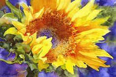 """Sun Seeker"": Susan Crouch, NC #watercolor jd"