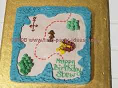 Pirate - Treasure Map Cake