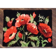 Field Of Poppies Latch Hook Rug Kit Kits Crafts