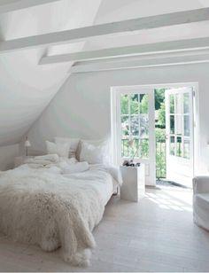 Bedding inspiration Fur throw