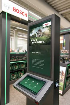 Bosch to install digital Experience Zones in DIY stores across Europe - Retail Design World Digital Signage, Digital Kiosk, Digital Retail, Pos Display, Display Design, Product Display, Display Stands, Kiosk Design, Signage Design