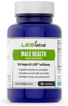 Male Health, Testosterone Support & Sexual Health Supplement By LES Labs (60 Vegetarian Capsules with Tongkat Ali LJ100, Maca Root, Ginseng Panax, Nettle Root and L-Arginine) by LES Labs