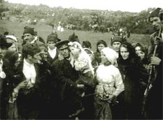 """After the great """"Miracle of the Sun"""" was over, Jacinta was carried away from the crowds.The Miracle of the Sun (Portuguese: O Milagre do Sol) was an event on 13 October 1917 in which 30,000 to 100,000 people, who were gathered near Fátima, Portugal, claimed to have witnessed extraordinary solar activity."""