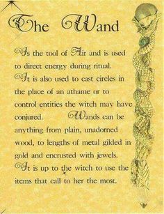 Wand by liza Witch Spell Book, Witch Wand, Witchcraft Spell Books, Magick Spells, Wiccan Wands, Healing Spells, Harry Potter Dark Mark, Easy Spells, Wiccan Magic