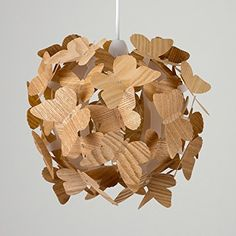 Stunning Modern 3D Wooden Butterflies Ceiling Pendant Light Lamp Shade: Amazon.co.uk: Lighting