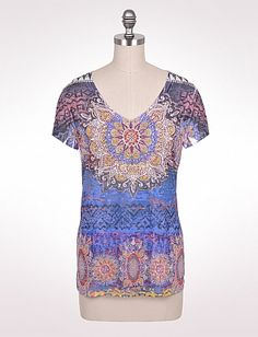 Cute and comfy tee from dressbarn...I love the colors in this shirt!!