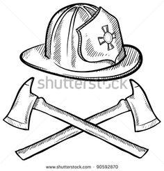Firefighter Helmet Drawing