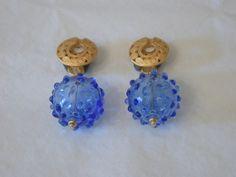 earrings, glass
