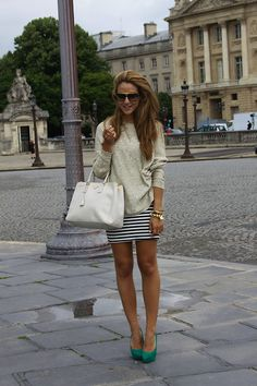 Tamara Kalinic - Prada Bag, Topshop Heels, River Island Jumper, Missguided Dress - From Paris With Love