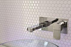 Hexagon self adhesive wall tile