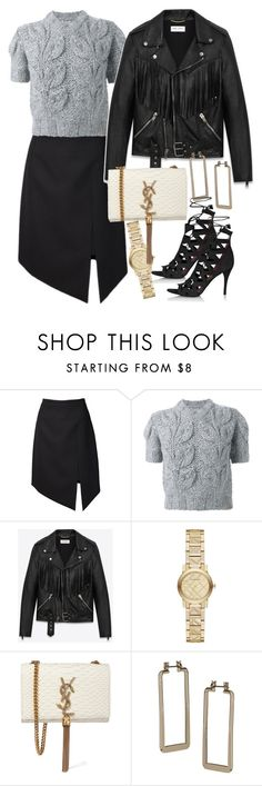"""""""Untitled #2187"""" by erinforde ❤ liked on Polyvore featuring Yves Saint Laurent, Maison Margiela, Burberry and Topshop"""