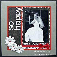 "wedding scrapbook layouts  | Carla Creates: ""For Always"" wedding scrapbook page"