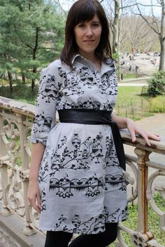 Amazing Snoozer Loser X Burdastyle contest where a lucky winner receives our Native Owl Cotton Fabric and remakes it to her own pattern! We love this dress!