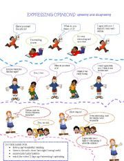 English worksheet: Expressing opinions