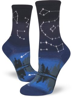 cfada1db106 Big Dipper  Little Dipper  Cassiopeia  Constellation socks by ModSocks  feature the night sky