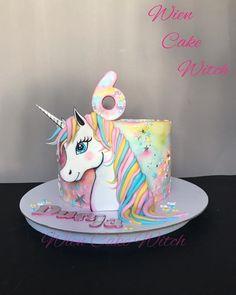 Unicorn cake - cake by Leksandra Unicorn Themed Birthday Party, Birthday Cake Girls, Birthday Kids, Birthday Cupcakes, Unicorn Cake Design, Unicorn Cakes, Poppy Cake, Plum Cake, Raspberry Smoothie