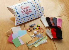 Cut off the fingers of gloves to make an adorable finger puppet kit.