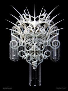 Quixotic-Divinity - Intricate 3D Printed Headdress