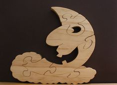 Man In The Moon Wood Puzzle Cut On Scroll Saw